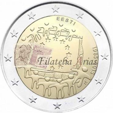2€ 2015 Estonia - Bandera