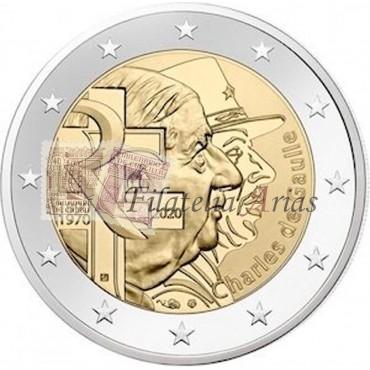 2€ 2020 Francia - General de Gaullle