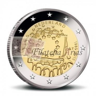 2€ 2015 Holanda - Bandera Europea