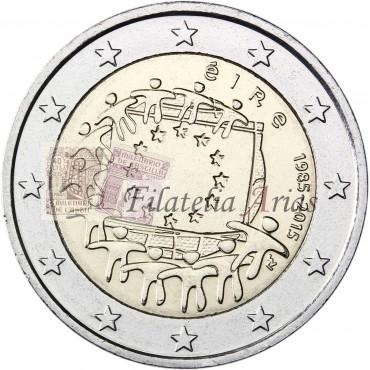 2€ 2015 Irlanda - Bandera europea