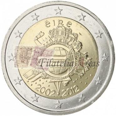 2€ 2012 Irlanda - Diez años del Euro