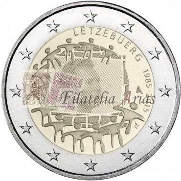 2€ 2015 Luxemburgo - Bandera europea