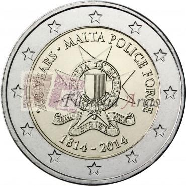 2€ 2014 Malta - Cuerpo de policía