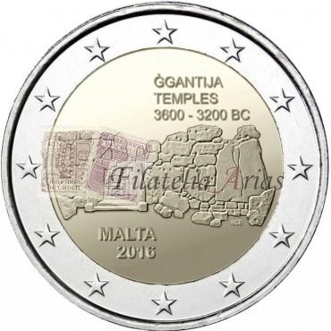 2€ 2016 Malta - Templo GGANTIJA