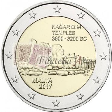 2€ 2016 Malta - Templo Hagar Qim