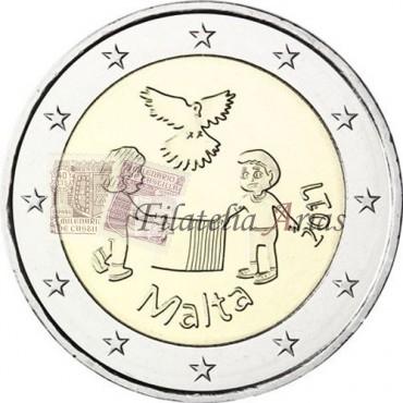2€ 2017 Malta - Los niños y la solidaridad