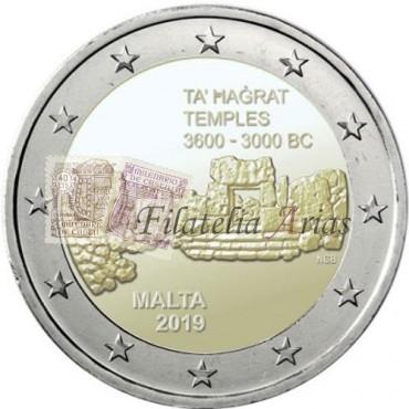 2€ 2019 Malta - Templos Ta' Haġrat