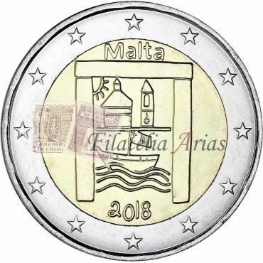 2€ 2018 Malta - Los Niños y la Solidaridad