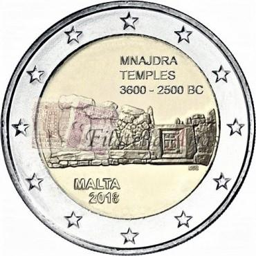2€ 2018 Malta - Templo Mnajdra