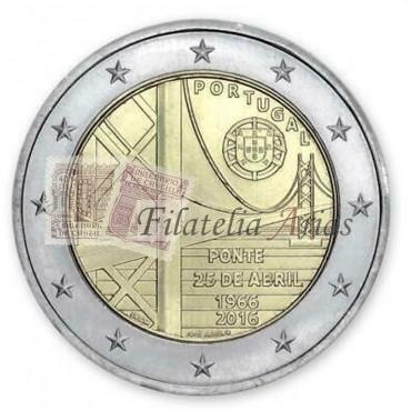 2€ 2016 Portugal - Puente 25 de Abril