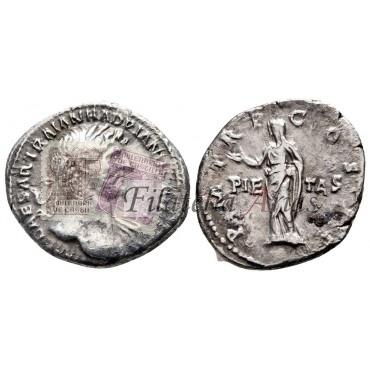 Adriano. Denario (118 d.C.)