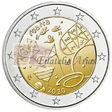 2€ 2017 Malta - Templo Hagar Qim