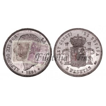 Alfonso XII. 5 pesetas. 1881*81