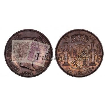 Isabel II. 20 reales. 1864. Madrid.