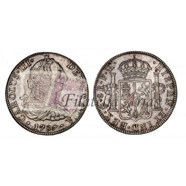 Carlos III. 8 reales. 1789. México