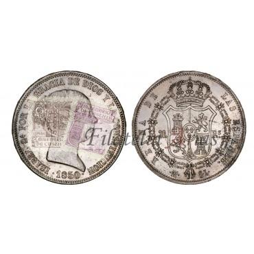 Isabel II. 20 reales. 1850. Madrid.
