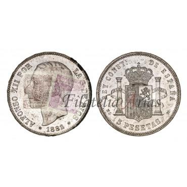 Alfonso XII. 5 pesetas. 1882/1*81