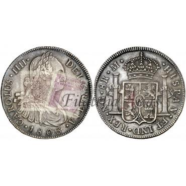 Carlos IV. 8 reales. 1803. México.