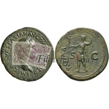 Vespasiano. Sestercio (72 d.C.)