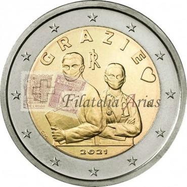 2€ 2021 Italia - Profesiones sanitarias