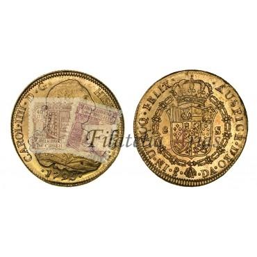 Carlos IV. 8 escudos. 1795. Santiago.