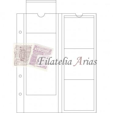 Paquete 5 Hojas OPTIMA, para 6 monedas de hasta 65 mm Ø, transparentes