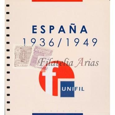 "Suplemento Unifil 1936/49 ""Estado Español"" con filoestuches (negro/transparente)"