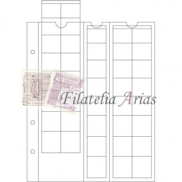 Paquete 5 hojas OPTIMA, para series de EURO de hasta 26 mm Ø, transparentes
