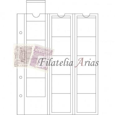 Paquete 5 hojas OPTIMA, para 15 monedas de hasta 42 mm Ø, transparentes