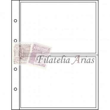 Hojas para monedas NUMIS, de 2 divisiones para billetes y Postales