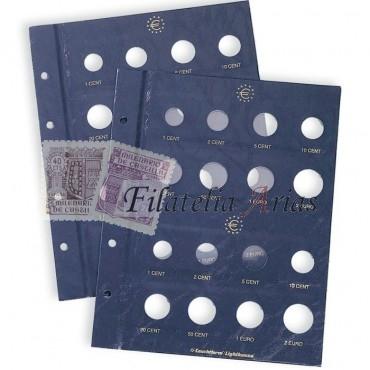 Hojas para monedas VISTA, de Euro neutral para 2 series de monedas de curso legal por hoja