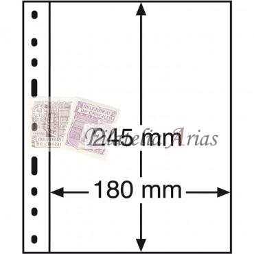 Hojas de plástico OPTIMA, 1 división, transparentes