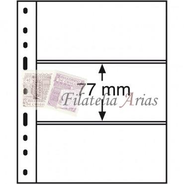 Hojas de plástico OPTIMA, 3 divisiones, transparentes